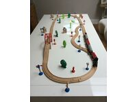 Toys Rail + train + accesories, all in wood