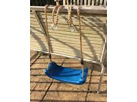 Children's Swing Seat- Wickey Blue Plastic Swing Seat- in excellent condition