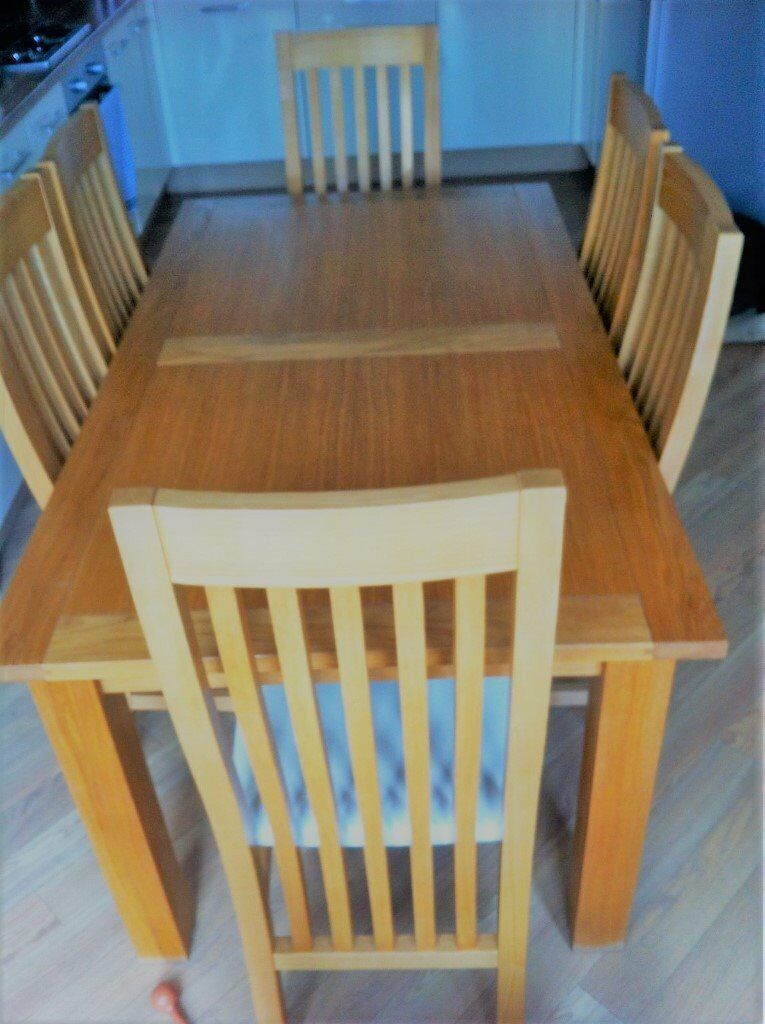 Next Cambridge Oak Dining Table 6 Chairs
