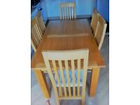 Next Cambridge Oak Dining Table & 6 chairs