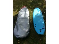 Two Ocean and Earth Foam Boards for sale.