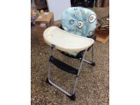 Chicco happy snacks high chair
