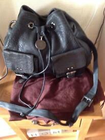 7295e59c2664 Lovely Large Black Leather Mulberry Leah Shoulder Messenger Bag