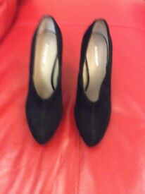 Marks and Spencer's real leather high heel shoe boots size 7