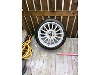 Mg alloy wheel tyre