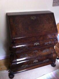 18th Century bureau desk with drawers