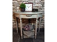 Console Table Hand painted shabby chic