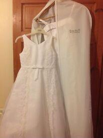 Beautiful white gala day dress