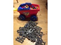 large bundle of duplo including Lego duplo train set with storage trolley