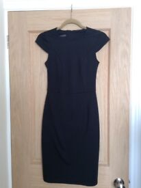 Ladies Fitted Black Dress - Size 8