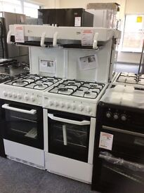 White high level gas cooker new graded 12 mth gtee