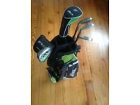 Kids golf clubs set, green bag. It was used for few months, too small now! Very good condition.