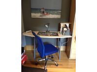 desk surfboard style and chair