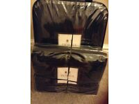 Dorma 'Leon' black quilted throw and pillowshams still packaged, unused