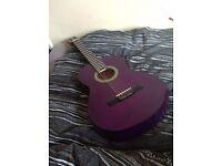 Discovery Tanglewood handmade purple classic guitar