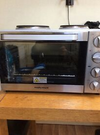Morphy Richards mini oven with hob st/stee rrp 114.99