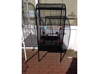 Black metal bird cage, parrot cage, bird cages, cockatiel cage, parakeet