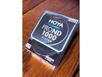 ND Filter and step up ring HOYA ProND1000, 10 stops, 52mm