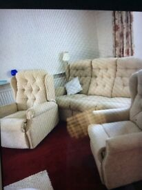 Celebrity Electric reclining 3 piece suite including electric tilt & rise armchair