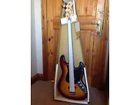 NEW Westfield B4000 Bass Guitar in Tobacco Sunburst finish