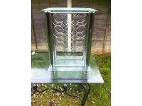 Wine Rack/Small table - Rectangular glass top & Storage for 15 Xmas bottles of wine!