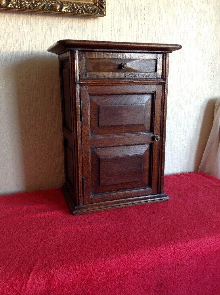 A Solid Oak Miniature Desk Cabinet