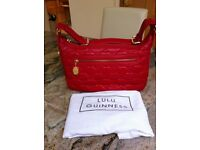 New Lulu Guinness Mid Ruby Leather Handbag