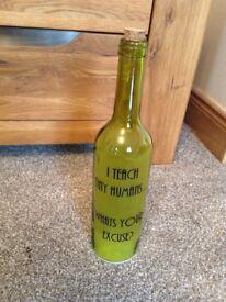 Light up bottle for a gift for a teacher