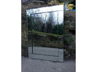 Quality Large Mirror - Bevelled edges - Excellent Condition - Bathroom Bedroom Lounge