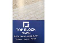 Top block paving Tarmac red&black