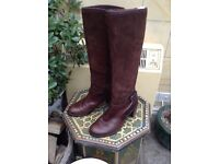 Brown suede and leather boots by Gabor size 4
