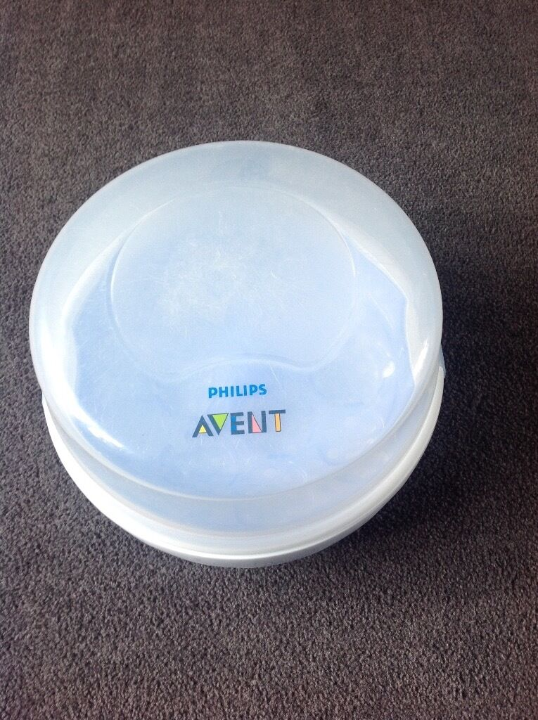Avent Microwave Steriliser2 4oz Bottles, plus newborn Nuk Nasal Decongesterin Bolton, ManchesterGumtree - Avent microwave steriliser, used but still in good working order, steriliser lid slightly scratched. Includes x2 4oz Avent bottles. Also includes brand new in packaging Nuk newborn nasal decongester. From a pet & smoke free home