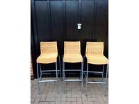 """3 ikea """"Cendy"""" bar stools"""