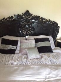5 Price Shabby Chic Bedroom Set Kingsize Bed, X 2 Bedsides, Chest of Drawers & Vanity Desk