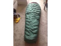 NORTH FACE SLEEPING BAG. SUPER LITE GOOSE DOWN.