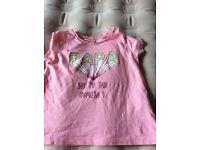"""Zara Tshirt """"papa"""" aged2-3"""