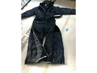 Padded warm boilersuit/worksuit/coverall with hood for outside work - brand new