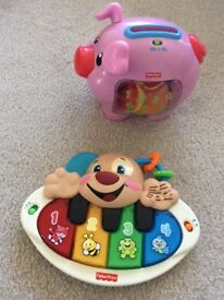 Laugh and learn pig and puppy piano - fisher price