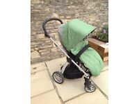 Mamas and Papas Sola Green with Footmuff and rain cover