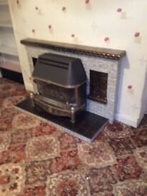 Working Gas Fireplace & Backboiler ready to take away