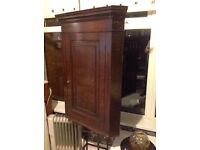 Antique Oak corner cabinet nice condition for age