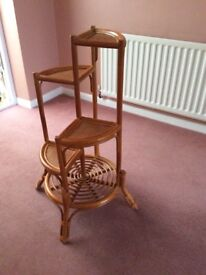 4 Tier Cane Plant/Display Stand in Antique Finish