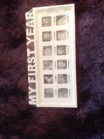 Baby's My First Year Photo Frame-White