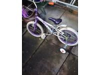CHEAP young girls bike with stabilizers
