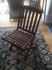 Hardwood folding chairs for sale.