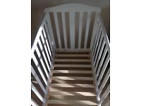 Mothercare white Takely cot