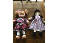 Large rag dolls , very good condition