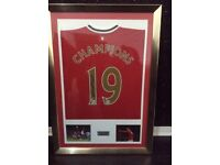Signed Manchester United shirt by Wayne Rooney after winning there 19th title