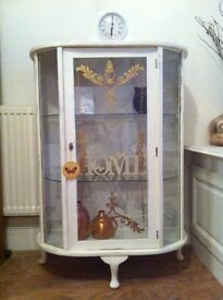Shabby chic glass cabinet