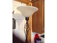 Black metal standard lamp